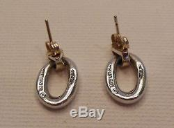 Vintage Tiffany & Co. 14K Yellow Gold and Sterling Silver Earrings circa 1975