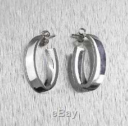 Vintage Tiffany & Co. 925 Sterling Silver Flat Drop Earrings
