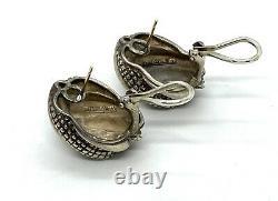 Vintage Tiffany & Co. Sterling Silver 14 K Gold Stud Earrings. 1. Heavy 26.1gm