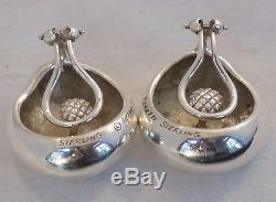 Vintage Tiffany & Co. Sterling Silver Bean Shaped Elsa Peretti Earrings Clips