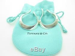 Vintage Tiffany & Co. Sterling Silver Elsa Peretti Cuff Hoop Earrings