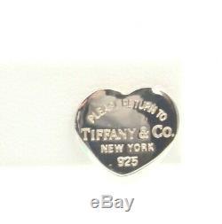 Vintage Tiffany & Co. Sterling Silver Heart Shaped Stud Earrings #756b-1