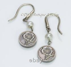 Vintage Tiffany & Co. Sterling Silver & Pearl Flower Earrings