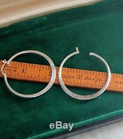 Vintage Tiffany Elsa Peretti Sterling Silver 925 Hoop Earrings
