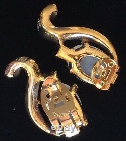 Vintage Trifari Alfred Philippe Sterling Grape Moonstone Fur Clip & Earrings Set