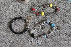 Vintage modern jewelry lot bracelets earrings necklaces sterling silver 10 lbs+