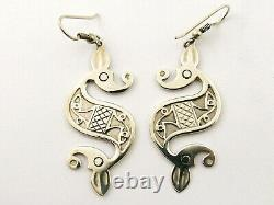 Vintage sterling silver earrings by Ola Gorie Roman Beasties Design Scottish