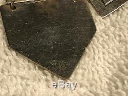 Vtg James Avery Geometric Dangle Sterling Silver Earrings, 1 1/2 long, free ship