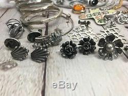 Vtg Lot Sterling Jewelry, Bracelets, Ring, Earrings, Brooch, Pendant, Necklace